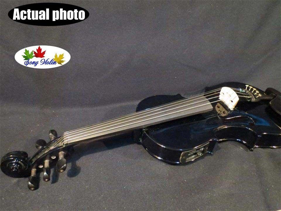 Colors Negro 5 Cuerdas 4 4 Electric Violín + Acústico Acústico Acústico Violín, Gratis Estuche Arco Resina 527e44