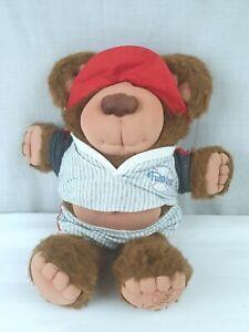 Vintage-Furskins-Bear-Xavier-Roberts-1985-Base-Ball-Bear-Coleco