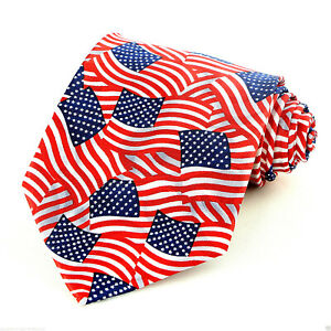 3fb784b0255 New American Flags Men s Necktie 4th July Holiday Patriotic US Flag ...