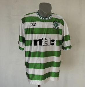 low cost f9b69 7c42a Details about Celtic F.C. Scotland 2000 - 2001 home jersey Retro Football  Umbro shirt Size XL