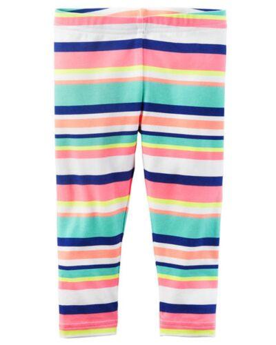 New Carter/'s Bright Stripes Capri Leggings Stretch NWT 2T 3 4T 5T 5 6 7 8 Girls