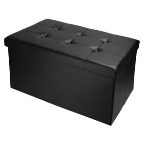 Sortwise® Faux Leather Ottoman Pouffe Storage Toy Box Foot Stools Bench Seat