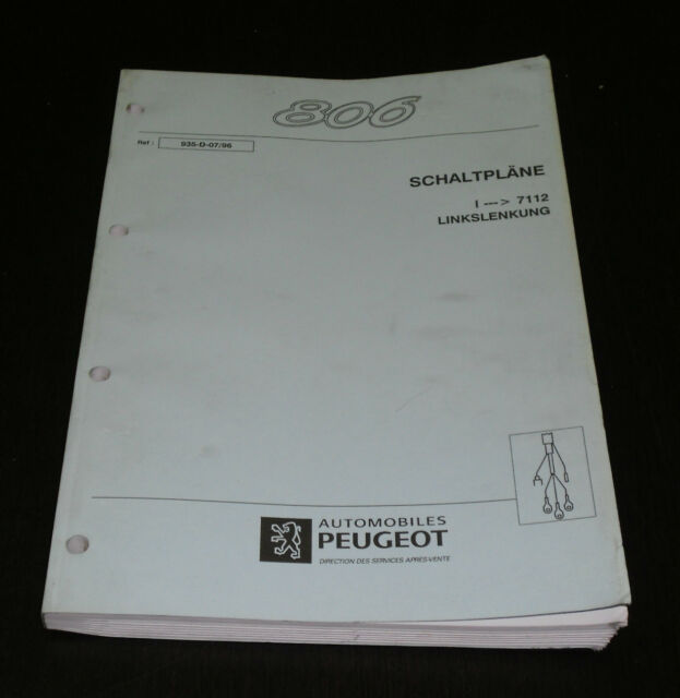 Workshop Manual Peugeot 806 Stand 07  1996 Wiring Diagrams