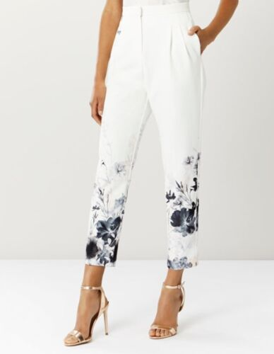 IVORY TROUSER SIZE 6-8-10-12-14 COAST AUTUMN BLOOM PRINTED BLOG FAV