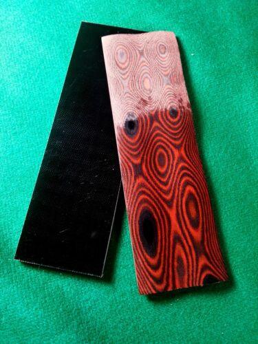 """2 piezas en Capas Negro//Rojo .187 /""""G-10 cuchillo manejar escalas de material 1.75/"""" X 5.75/"""""""