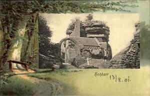 Burg-Hohbarr-Chateau-du-Haut-Barr-Frankreich-Elsass-Alsace-Carte-Postale-1900