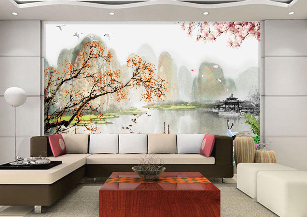 3D Herbst Landschaft 7985 Tapete Wandgemälde Tapeten Bild Familie DE Jenny