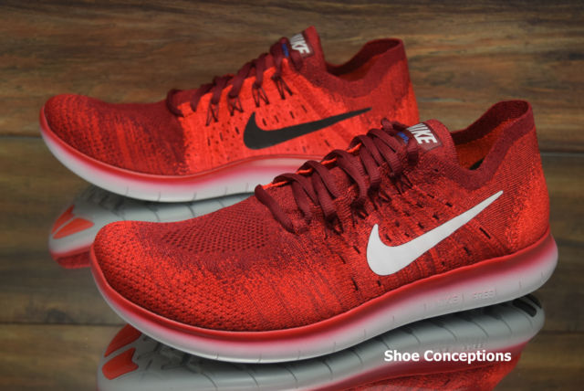 finest selection 5ab56 41c25 ... authentic nike free rn flyknit 2017 team red 880843 600 running shoes  mens multi size 824d2