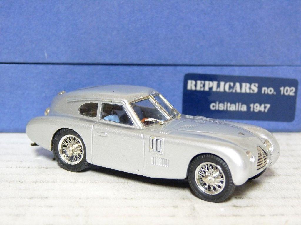 RepliCoches 102 SMTS 1 43 1947 Cisitalia Coupe Hecho a Mano de Metal blancoo Coche Modelo