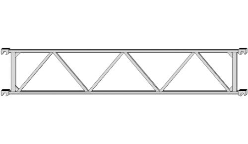 Layher Fahrgerüst Rollgerüst Träger 1207.285 ehem Doppelrückenlehne 2,85m Nr