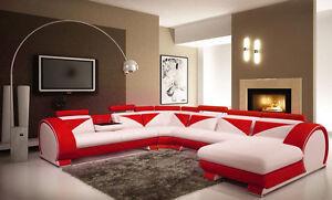 Wohnlandschaft-Ecksofa-Sofa-Couch-Polster-Garnitur-Ledersofa-Neu-Vigo-U-Form-Max