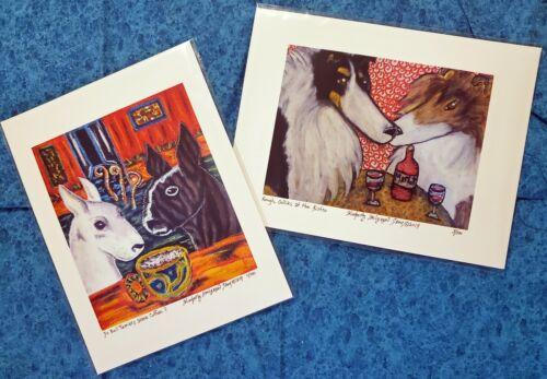 MINIATURE PINSCHER Getting Comfy Stuffed Animals Art Print 8x10 Dog Collectible