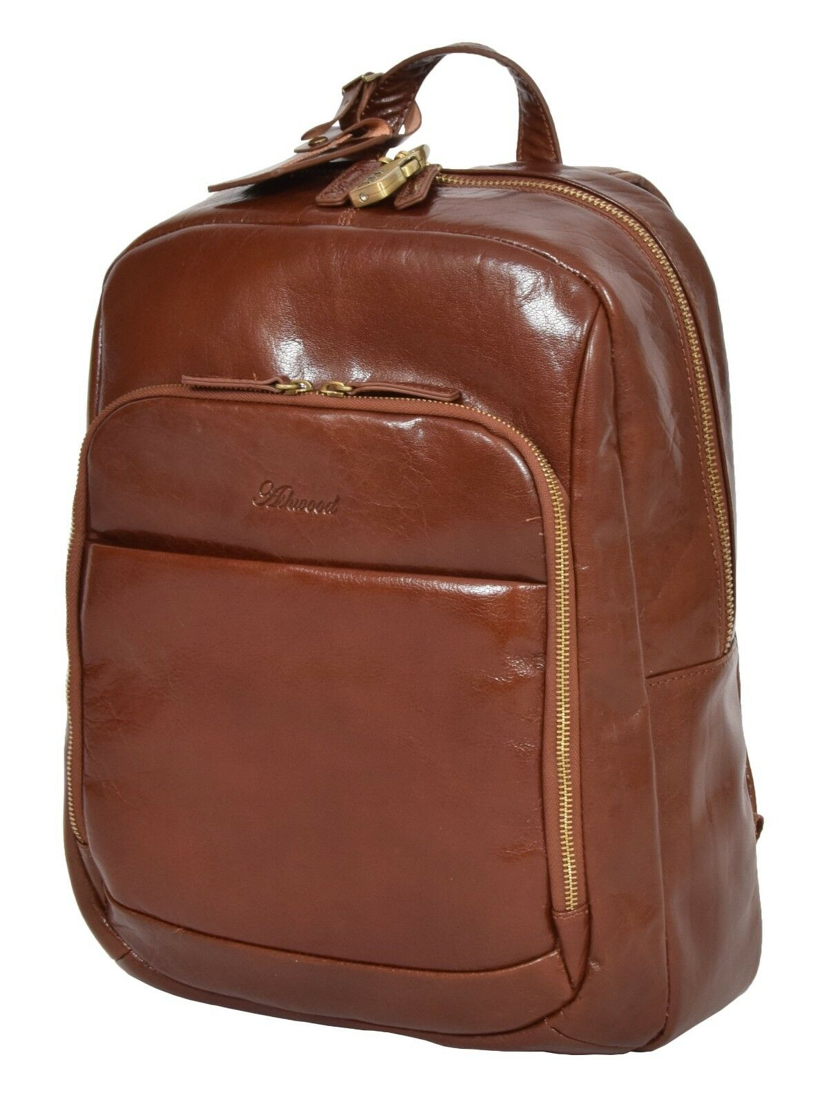 dbfc60efa Womens Real Leather Backpack Lightweight Travel Rucksack Peru Chestnut Tan  for sale online   eBay