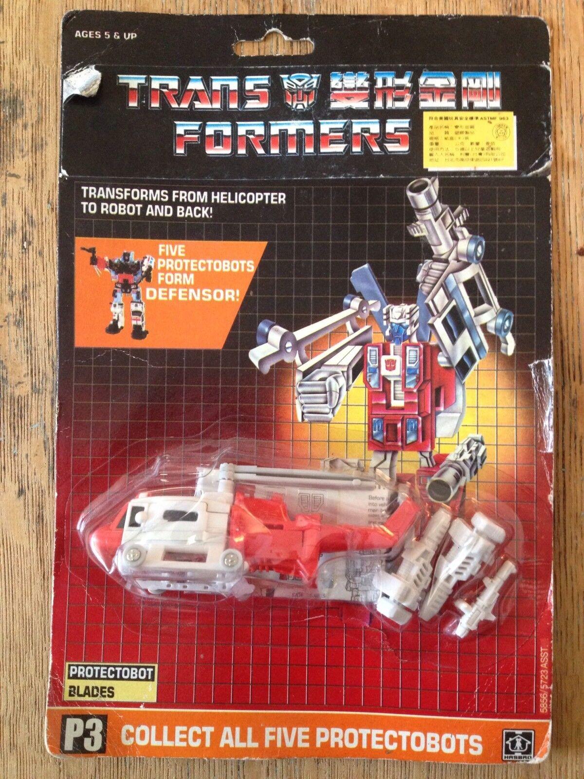 Rare Sealed 1986 Transformers Original G1 Predectobot Blades
