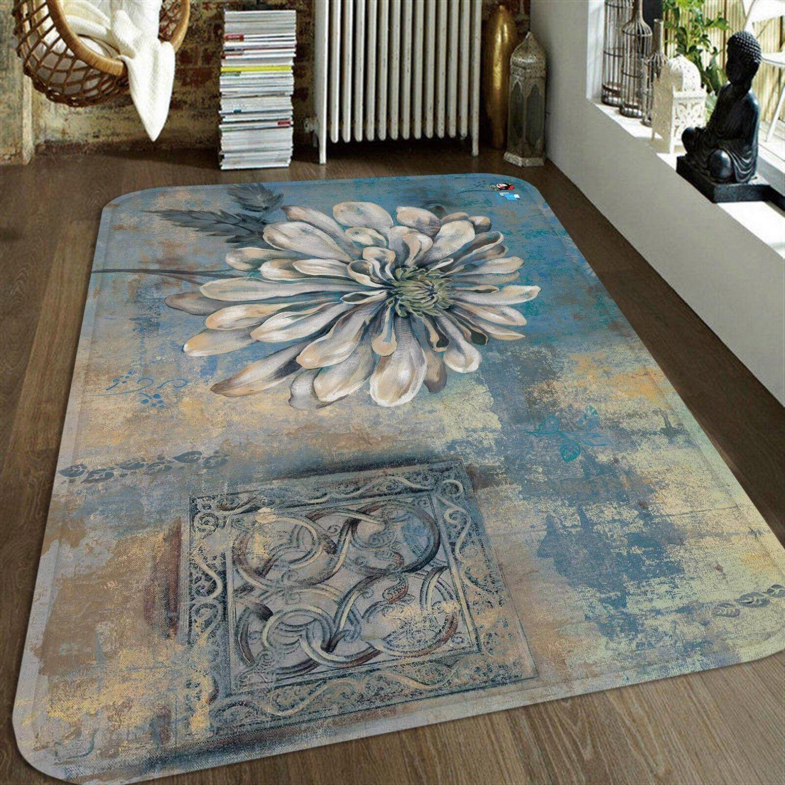 3D PETALI 12 tappetino antiscivolo tappeto camera Tappetino Qualità Elegante foto Tappeto UK Estate