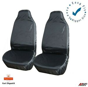 1 x Front BLACK For Vauxhall Astra Elite Single Heavy Duty Driver Captain Passenger Van Car Seat Cover Protector Waterproof