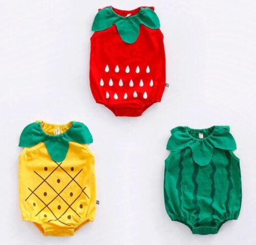 Baby Kid Girl Boy Halloween Watermelon Strawberry Fruit Party Costume Romper