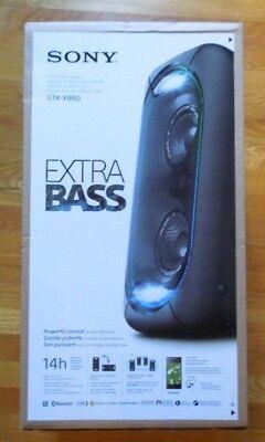 Sony GTKXB60//B High Power Portable Wireless Bluetooth Speaker Black