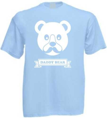 NEW DADDY BEAR T-SHIRT Face Christmas Present Birthday Father/'s Day Gift Son