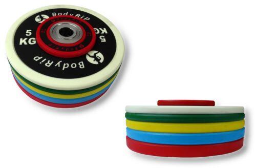 BodyRip 5.1cm Olympische Elite Wettbewerb Stoßfänger Platten PU Gewichte