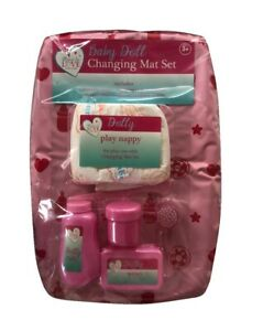 Baby Doll Changing Mat Accessories Set Nappy Brush Containers Mine To Love