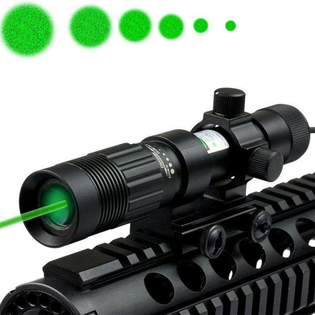 Adjustable Illuminator Tactical Laser Sight Flashlight Hunting Green Dot