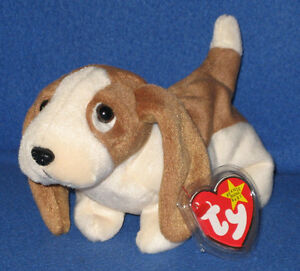 TY TRACKER the BASSET HOUND BEANIE BABY - MINT with MINT TAGS  56351e64f38