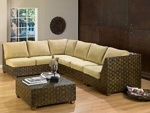 Premium Quality Rattan Modular Sectional Sofa 5 Piece Set