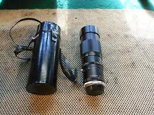 Vivitar 200mm f3.5 Telephoto lens no. 28217176 w' Samigon KFT 3X Auto Teleplus