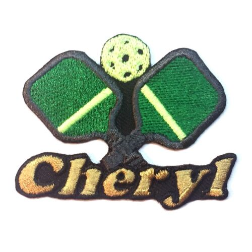 Pickleball Custom Iron-on Patch With Name Personalized Free