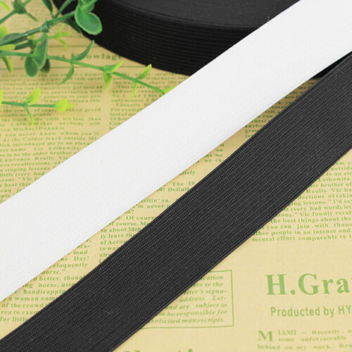 3M White /& Black Knit Elastic Band Sewing Carft Length Width multiple choices