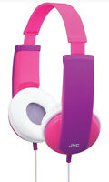 Jvc Tiny Phones Travel Headphones For Kids Pink 85db Safe Sound