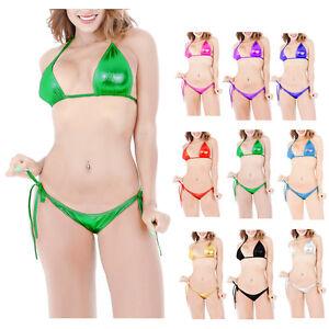 7c7e445717 Image is loading Summer-Women-Sexy-PVC-Lingerie-Swimsuit-Swimwear-Beach-
