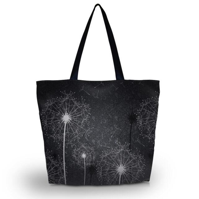 Dandelion Womens Beach Tote Shoulder Bag Purse Handbag Travel School Folding Bag