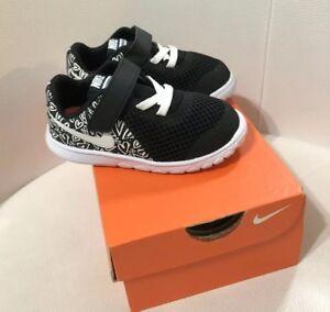 fac206d5eb51 Girl s Nike Flex Experience 5 PRINT (TDV) Running Shoe BLK WHT ...