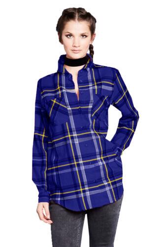 Brave Soul Diana Womens Yarn Dyed Checked Cotton Lumberjack Boyfriend Shirt