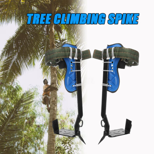 Tree Climbing Spike Set Safety  W//Gear Adjustable Lanyard Rope Rescue