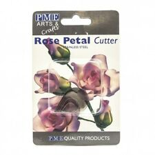 Pme 4pk Rose Petal Flower Cut Out Stainless Steel Icing Cutters Sugarcraft Cake Home & Garden