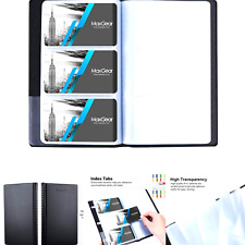 Maxgear Business Card Organizer Business Card Holder Book Portable Business