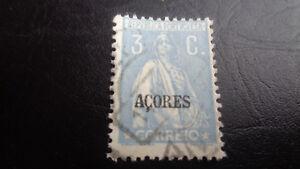 """Portogallo, Acores """"FRANCOBOLLO, a partire dal 1917, mi-N.: 223, timbrato"""
