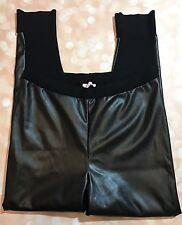 Victoria's Secret Black Faux Leather Pleather Leggings Size Extra Large Pants
