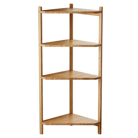 Ragrund Rågrund Eckregal 4 Rächer Badezimmer Bambus IKEA 99x34x34cm