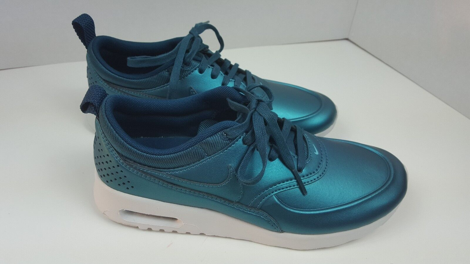 Nike Air Max Thea SE Metallic Dark Sea Teal Blue Green Womens Shoes 861674-901