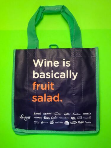 IMMEDIATE SHIPPING Kroger Earthwise 6 Bottle Wine Tote Carrier Bag Reusable