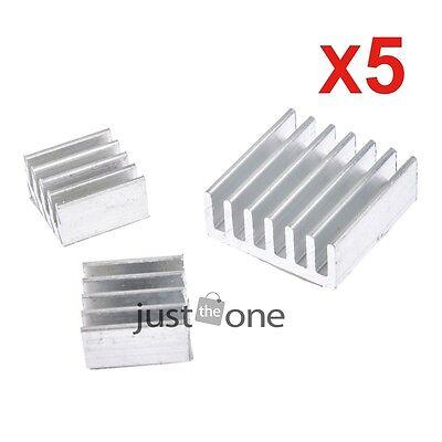 15PCS Raspberry PI Pure Aluminum Self-adhesive Heatsink Kit (with cooling stick)