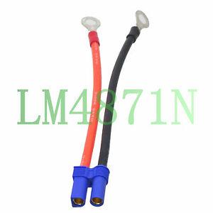 8mm Female 6.5mm male 10cm 4inch 10AWG Silicon Wire Castle Mambo ESC Extension