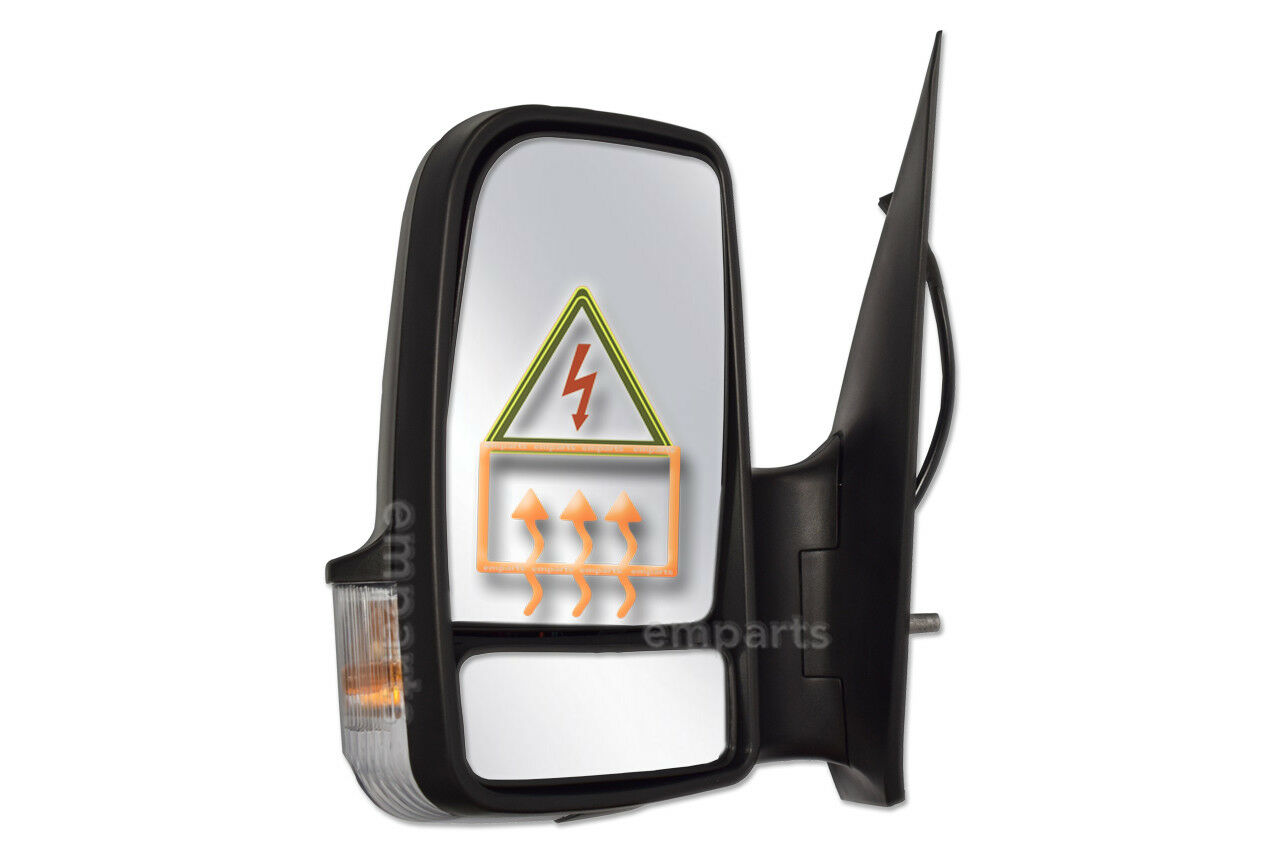 FIAT DUCATO  2006-2018 LONG ARM ELECTRIC DOOR WING MIRROR RH RIGHT DRIVER SIDE