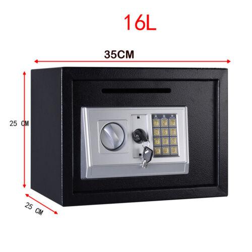 Electronic Password Mini Safe Money Cash Deposit Box Office Home White Black