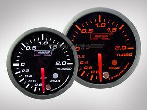 Prosport Ladedruck Anzeige Racing Premium Serie Orange/ Weiss 52mm