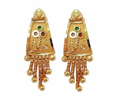 Certified Yellow Fine Gold Solid 22K 916 Stamped Handmade Beautiful Earrings